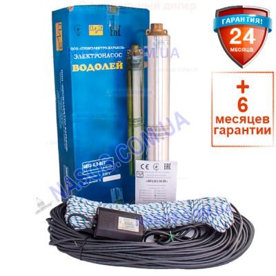 Погружной насос Водолей БЦПЭ 0,5-80У 1.8m3/h-3.6m3/h(max)