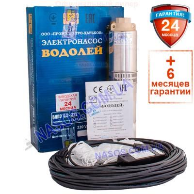 Погружной насос Водолей БЦПЭ 0,5-32У 1.8m3/h-3.6m3/h(max)